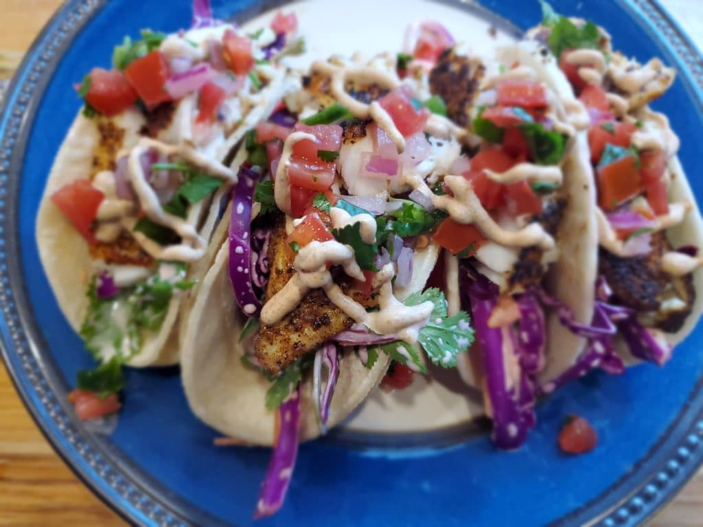 pan seared fish taco
