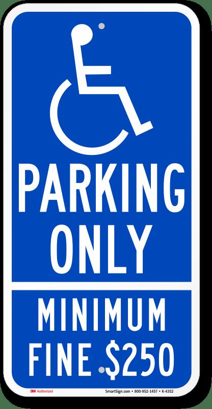 handicap parking spot sign