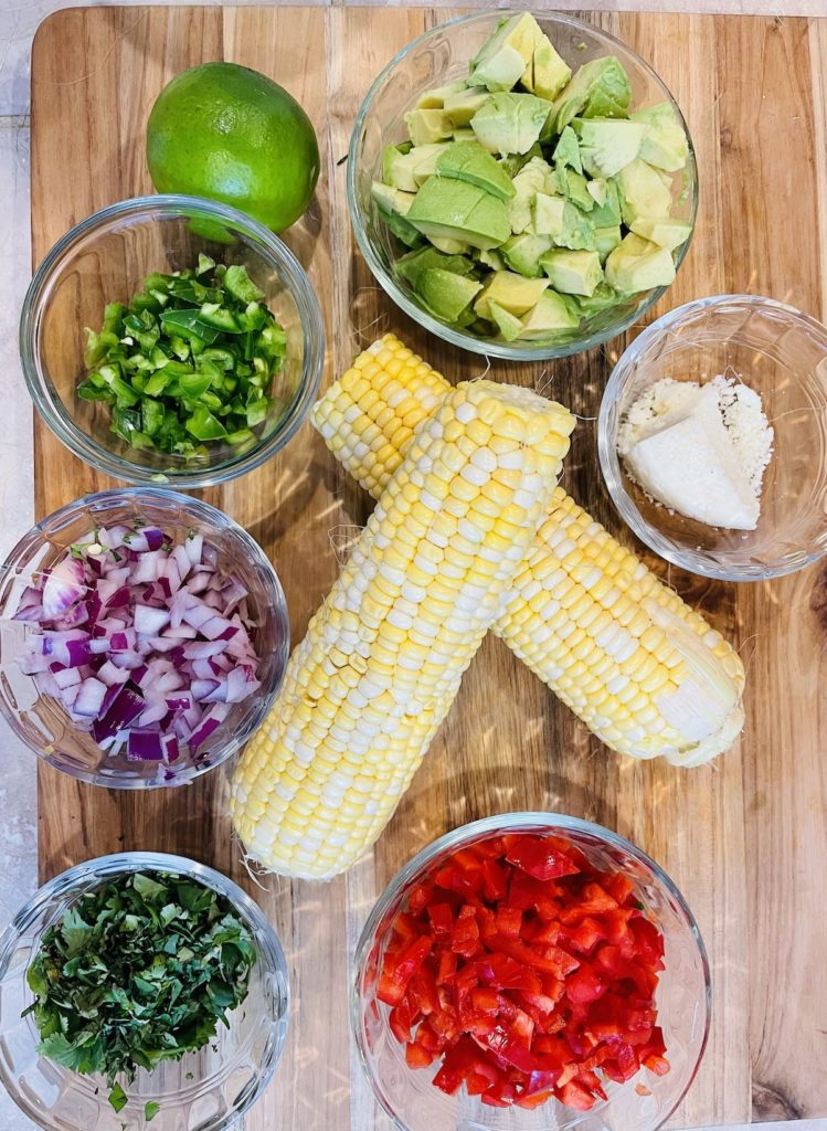 Ingredients for Grilled Street Corn Alote Salad