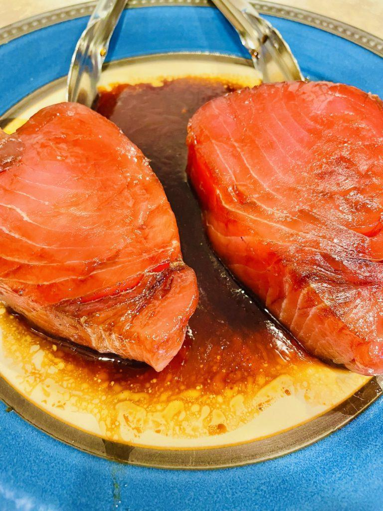 Marinating Pan Seared Ahi Tuna